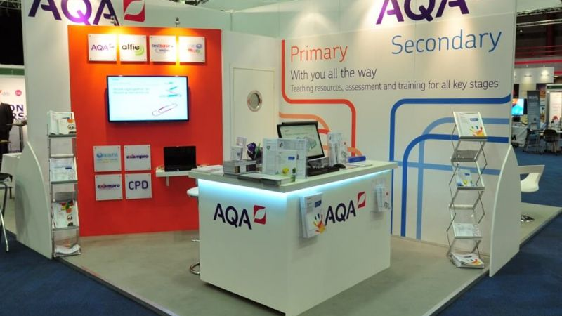 Exhibition stand for AQA