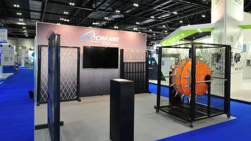 Exhibition stand for Cochrane at IFSEC