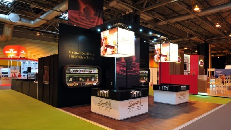 Exhibition stand for Lindt at BBC Good Food Show