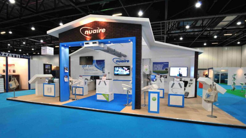 Exhibition stand for Nuaire