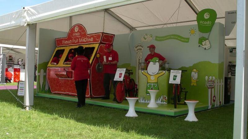 Exhibition stand for Ocado