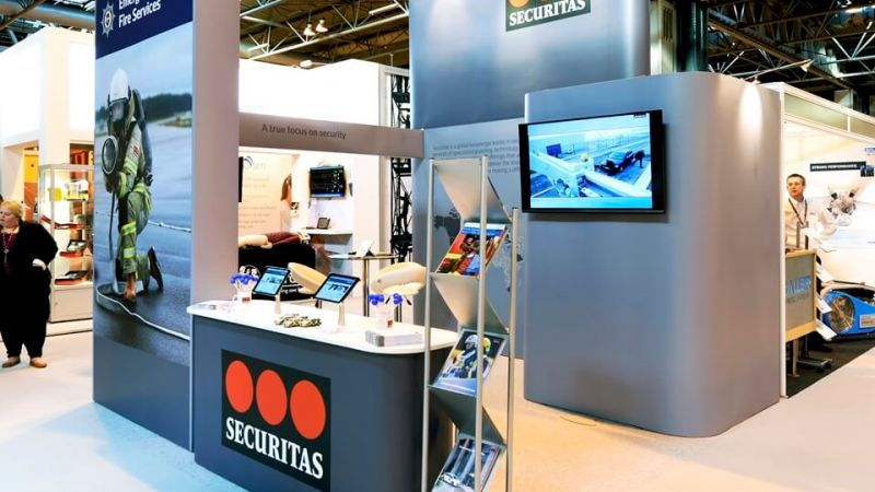 Exhibition stand for Securitas