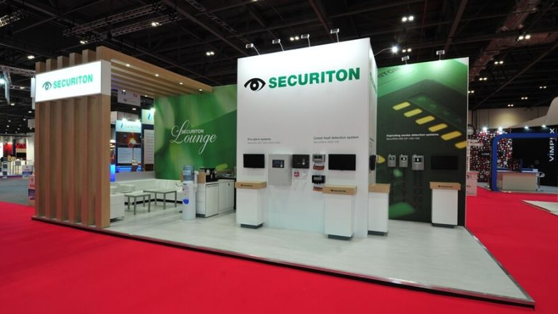 Exhibition stand for Securiton at FIREX