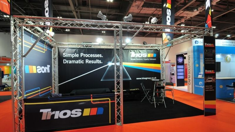 Exhibition stand for Trios at Facilities Show