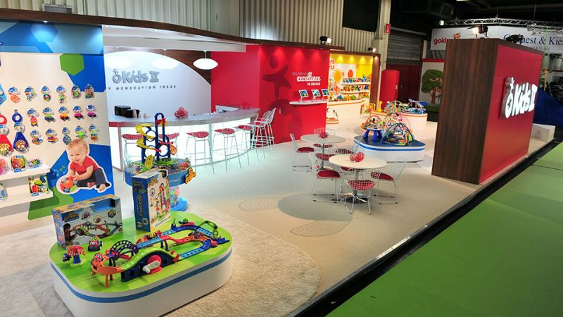 Exhibition stand for Kids II at Spielwarenmesse