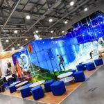 Modular Glass Exhibition Stand for Discovery Channel