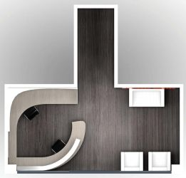 Reception design for Nippon Express - Plan view