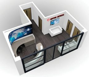 Reception design for Nippon Express - Front view