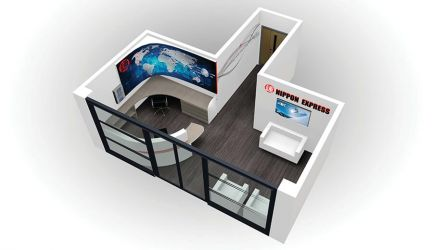 Reception design for Nippon Express - Front view 2