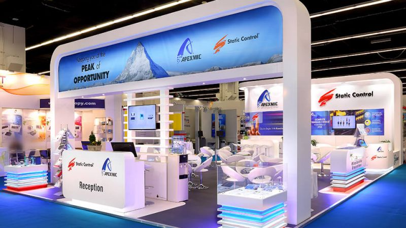 Exhibition stand for Static Control at Paperworld