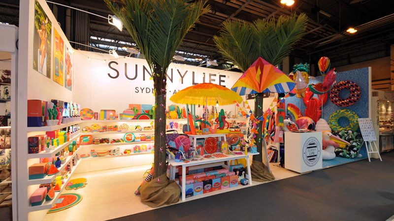 Sunnylife exhibition stand at Spring Fair