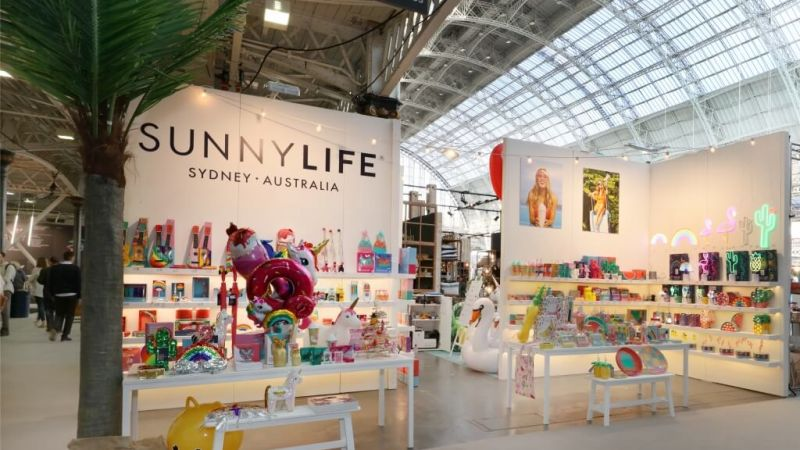 Sunnylife exhibition stand at Top Drawer