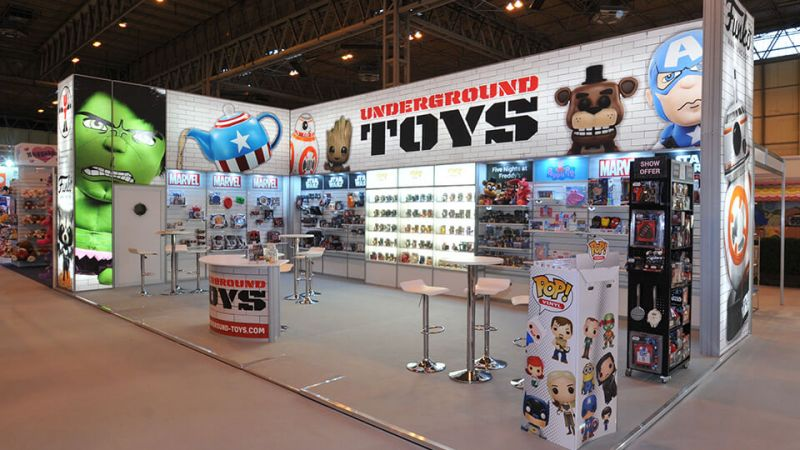 Linx exhibition stand for Underground Toys at Spring Fair