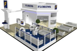 10 x 9 exhibition stand design for Florens