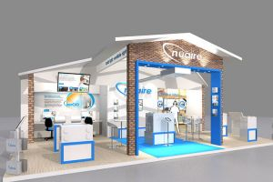 10.5 x 6 exhibition stand design for Nuaire