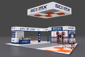 14 x 10 exhibition stand design for SCI-MX