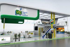 16 x 9 exhibition stand design for Nigeria LNG