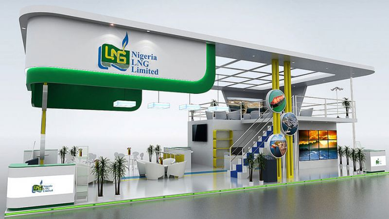 16 x 9 exhibition stand design for Nigeria LNG
