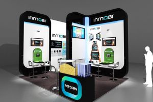 4 x 3 exhibition stand design for Inmobi