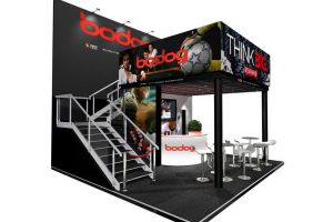5 x 4 double deck exhibition stand design for Symbolis
