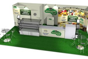 8 x 5 exhibition stand design for Kerrygold