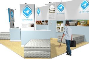 8 x 6 exhibition stand design for Briody Beds