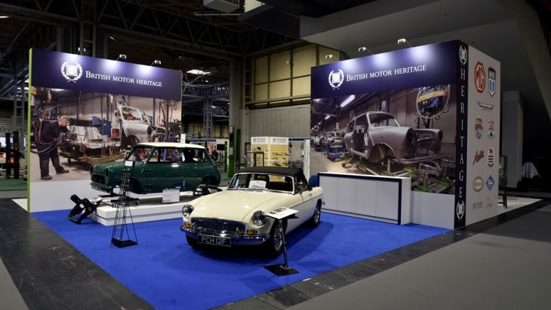 Classic Motor Show exhibition stand - British Heritage Museum