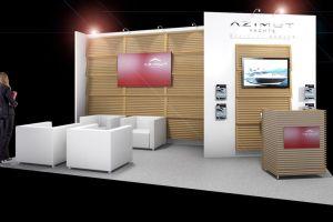 Exhibition stand design - Azimut Yachts