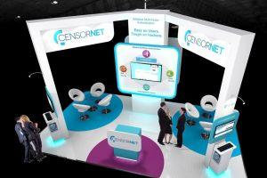 Exhibition stand design 7m x 4m - Censornet