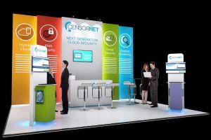 Exhibition stand design - Censornet