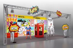 Exhibition stand design for Screenworks