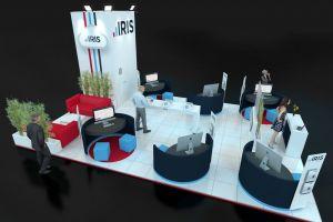 Exhibition stand design 9m x 6m - Iris