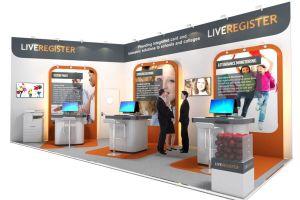 Exhibition stand design - Live Register