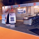 Custom exhibition stand hire example