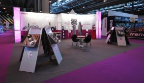 Modular exhibition stand hire - Leuco