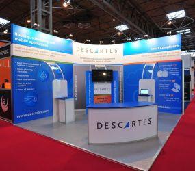 Linx modular exhibition stand - Descartes