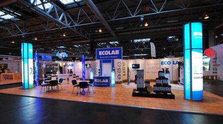 14m x 7m Linx modular exhibition stand - Ecolab