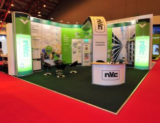 7m x 6m modular exhibition stand - NVC