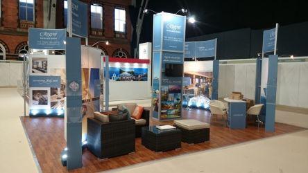 8m x 8m Linx modular exhibition stand - Regent Seven Seas