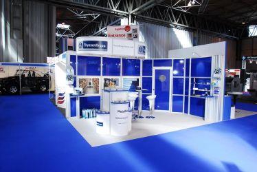 5m x 3m modular exhibition stand - ThyssenKrupp