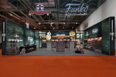 12m x 8m Linx modular exhibition stand - Underground Toys