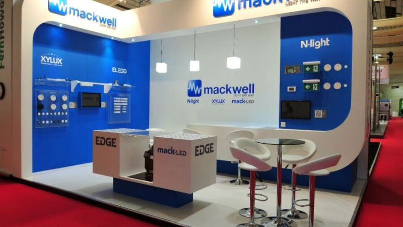 luxlive exhibition stand - mackwell electronics 2