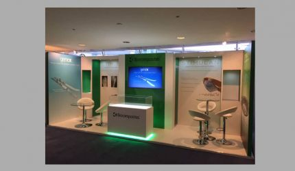 Modular exhibition stand hire - Biocomposites