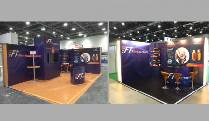 Modular exhibition stand hire - Filtertechnik