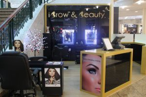 Shopping centre display - iBrow and Beauty